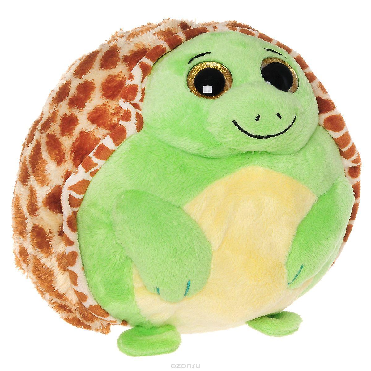 TY Мягкая игрушка Черепашка Zoom 10 см38019Мягкая игрушка Черепашка Zoom не оставит вас равнодушным и вызовет улыбку у каждого, кто ее увидит. Милая черепашка Zoom с невероятно добрыми искренними глазками еще никого не оставляла равнодушным! Черепашка Zoom выполнена в форме мяча. Игрушка очень удобная даже для самых маленьких. Пластиковые гранулы, используемые при набивке игрушки, способствуют развитию мелкой моторики рук ребенка. Симпатичная игрушка будет радовать вашего ребенка, а также способствовать полноценному и гармоничному развитию его личности. Великолепное качество исполнения делают эту игрушку чудесным подарком к любому празднику как для ребенка, так и взрослого человека!