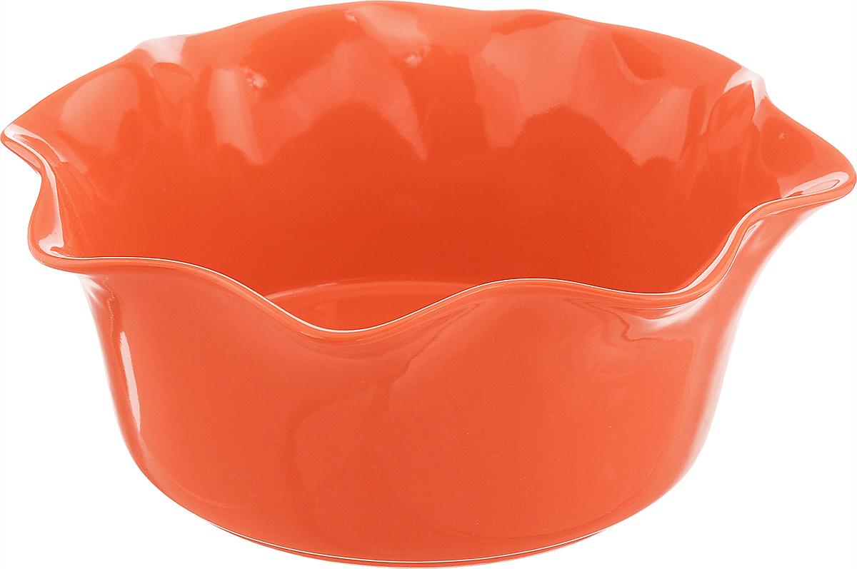 Форма для выпечки Frybest Provance, круглая, цвет: оранжевый, диаметр 25 смPROV-25R ProvanceКруглая форма для выпечки Frybest Provance изготовлена из экологически чистой глазурованной керамики, не выделяет вредных химических веществ во время готовки. Форма равномерно нагревается и долго сохраняет тепло, за счет чего блюда получаются изумительно нежными и сочными и сохраняют все витамины и микроэлементы. 180°С - оптимальная температура для медленного томления. Форма имеет волнистые края и высокие стенки. Идеально подходит для семейных ужинов и праздников, эта форма станет хорошим украшением стола - готовое блюдо не нужно перекладывать в другую посуду. Форма подходит для приготовления блюд в духовке (до 180°С) и микроволновой печи, можно мыть в посудомоечной машине. Диаметр формы (по верхнему краю): 25 см. Высота стенки: 10,5 см.