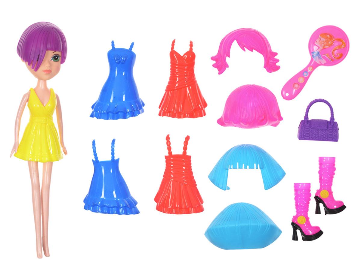 1TOY Игровой набор Красотка Фэшн цвет платья желтый
