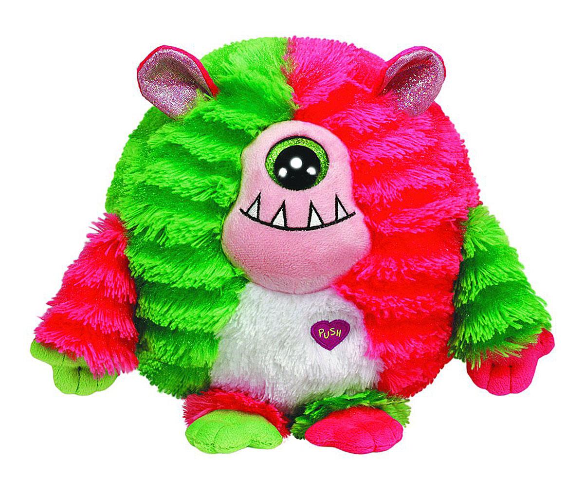 TY Мягкая игрушка Домовенок Spike 15 см37114пцМягкая игрушка Spike вызовет улыбку у каждого, кто ее увидит. Игрушка изготовлена из безопасных, приятных на ощупь материалов в виде милого мохнатого домовенка. Яркий монстрик Spike с большим зеленым глазиком еще никого не оставлял равнодушным! У Spike мягкая шерстка розового и зеленого цвета, зубастая улыбка и забавные ушки. При нажатии на кнопку в виде сердечка, монстрик начинает говорить смешным голосом и смеяться! Пластиковые гранулы, используемые при набивке игрушки, способствуют развитию мелкой моторики рук ребенка. Симпатичная игрушка будет радовать вашего ребенка, а также способствовать полноценному и гармоничному развитию его личности. Великолепное качество исполнения делают эту игрушку чудесным подарком к любому празднику, как для ребенка, так и взрослого человека!
