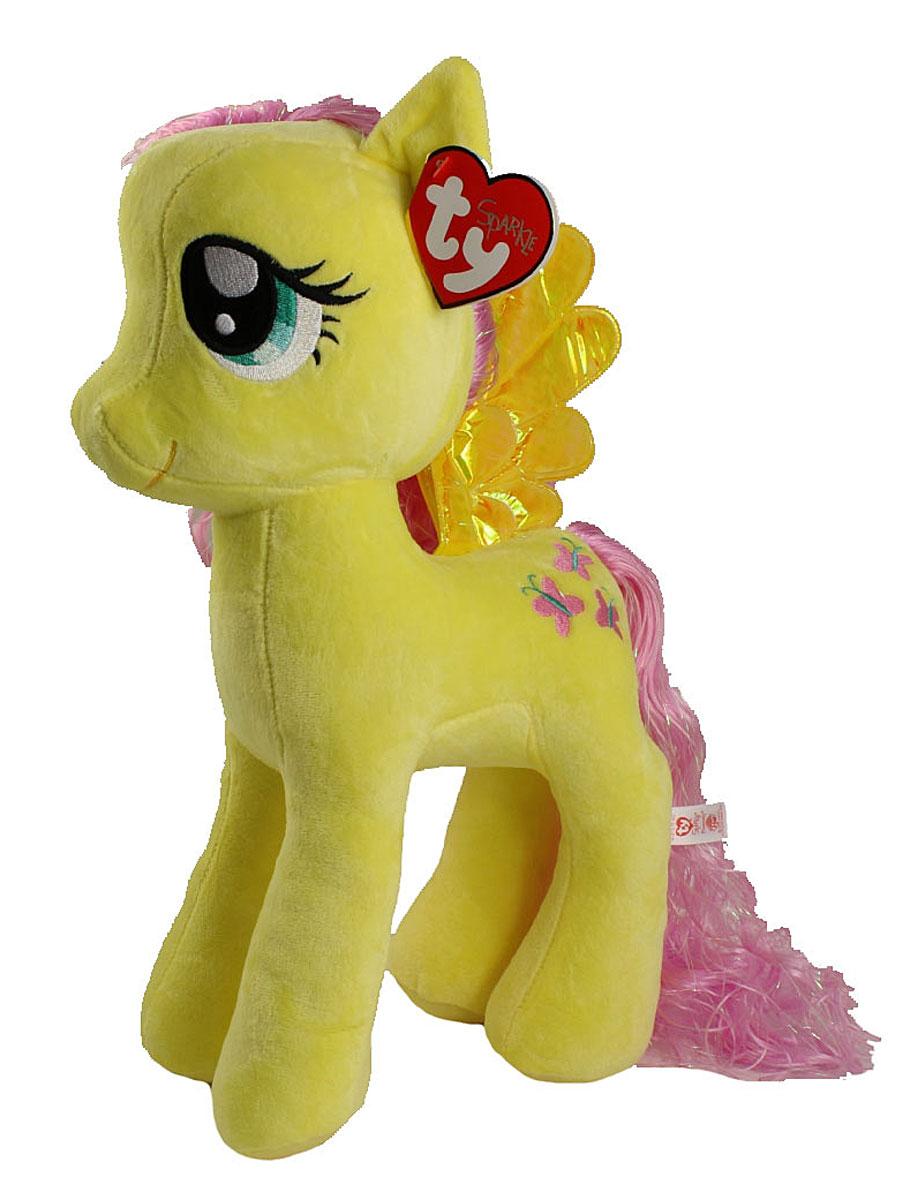 TY Мягкая игрушка Пони Fluttershy 40 см90208Мягкая игрушка Пони Fluttershy вызовет улыбку у каждого, кто ее увидит. Игрушка изготовлена из безопасных, приятных на ощупь материалов в виде героини мультфильма My Little Pony. У пони сиреневая длинная грива, блестящие крылышки и огромные вышитые глазки. Пластиковые гранулы, используемые при набивке игрушки, способствуют развитию мелкой моторики рук ребенка. Симпатичная игрушка будет радовать вашего ребенка, а также способствовать полноценному и гармоничному развитию его личности. Великолепное качество исполнения делают эту игрушку чудесным подарком к любому празднику как для ребенка, так и взрослого человека!
