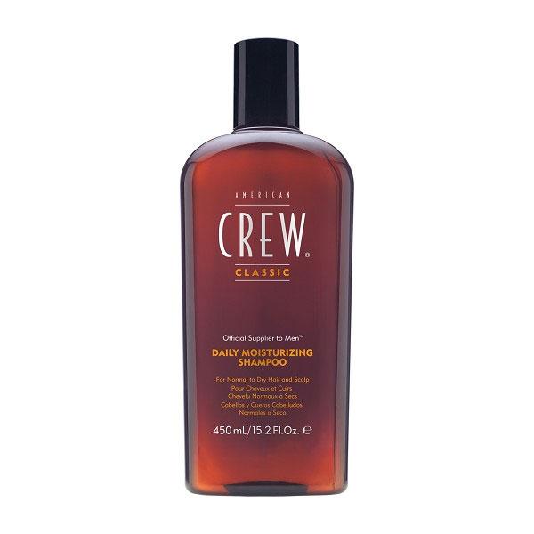 American Crew Шампунь для ежедневного ухода за нормальными и сухими волосами Classic Daily Moisturizing Shampoo 450 мл7206897000American&nbsp Crew Daily Moisturizing Shampoo Шампунь для ежедневного ухода за нормальными и сухими волосами прекрасно питает, увлажняет и тщательно очищает волосы по всей длине. В составе шампуня Американ Крю имеется рисовое масло, которое придаёт волосам эффектный блеск, при этом сохраняя их естественный натуральный цвет. Экстракты розмарина и тимьяна способствуют тщательному уходу за сухими или повреждёнными волосами, восстанавливают их и наделяют силой и здоровьем. Шампунь Американ Крю Daily Moisturizing подходит для тщательного ежедневного ухода, делает волосы необычайно мягкими, гладкими и шелковистыми, отлично тонизирует и освежает, обеспечивая хорошее настроение. Подходит для типов волос: нормальные, сухие, ослабленные, ломкие, повреждённые.