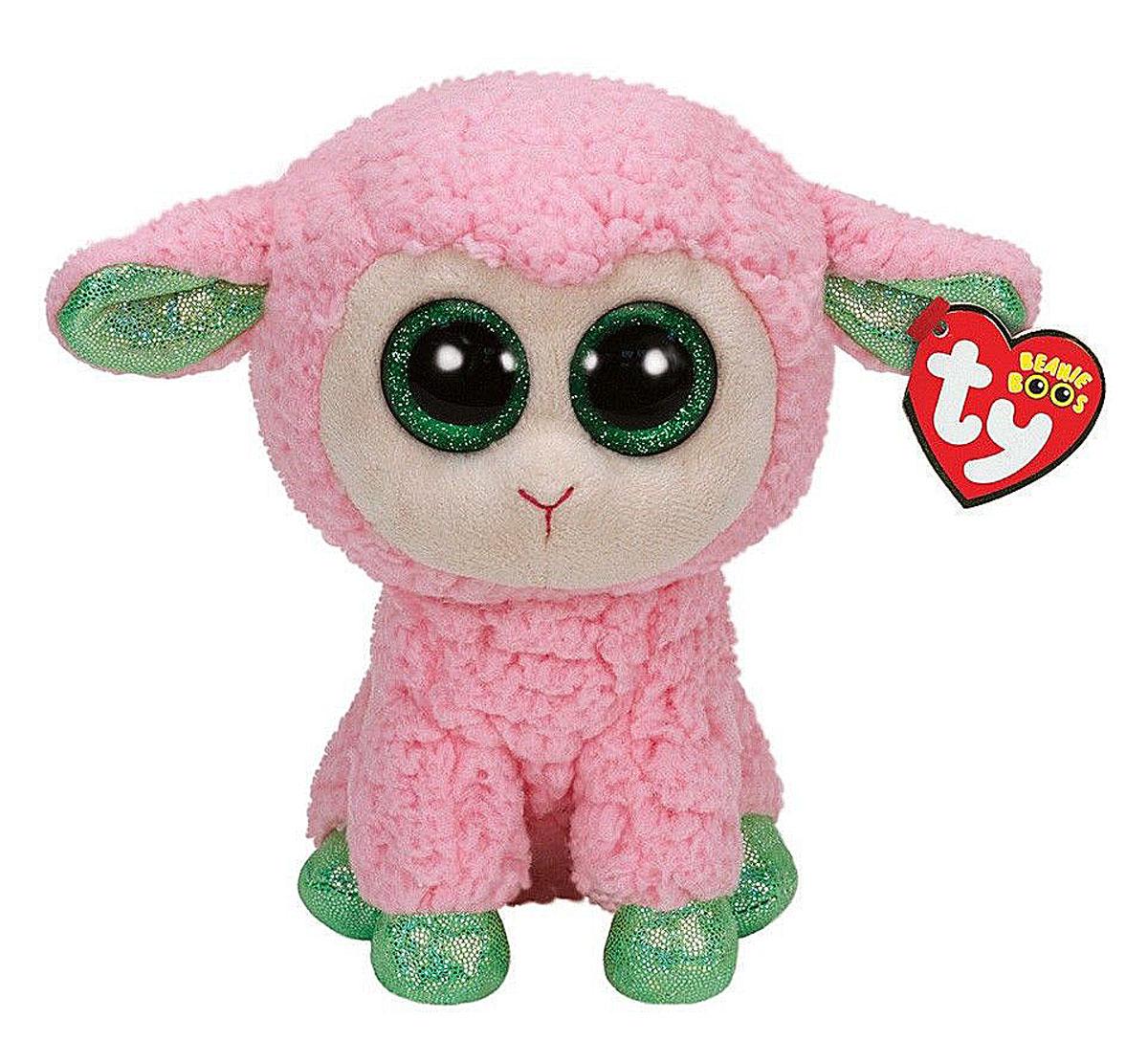 TY Мягкая игрушка Овечка Leyla 23 см36937Мягкая игрушка Овечка Leyla обязательно вызовет положительные эмоции и улыбку у каждого. Игрушка изготовлена из безопасных, приятных на ощупь материалов в виде мягкой розовой овечки. У игрушки салатовые копытца и огромные пластиковые глазки. Гранулы из пластика, используемые при набивке игрушки, способствуют развитию мелкой моторики рук ребенка. Симпатичная игрушка будет радовать вашего ребенка, а также способствовать полноценному и гармоничному развитию его личности. Великолепное качество исполнения делают эту игрушку чудесным подарком к любому празднику, как для ребенка, так и взрослого человека!