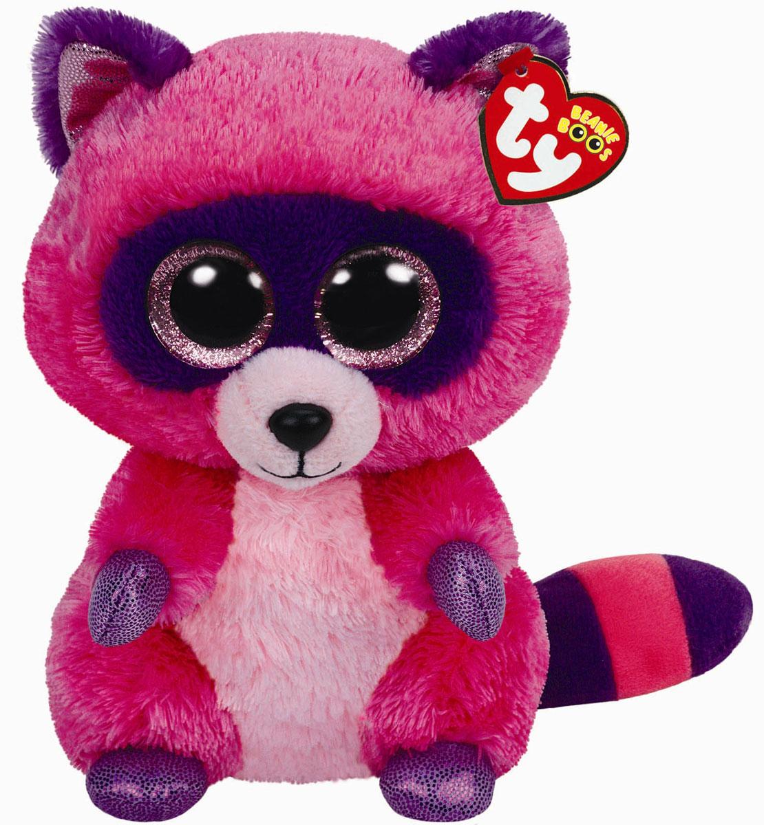 TY Мягкая игрушка Енот Roxie 22 см37043Мягкая игрушка Енот Roxie обязательно вызовет положительные эмоции и улыбку у каждого. Игрушка изготовлена из безопасных, приятных на ощупь материалов в виде ярко-розового енотика. У игрушки фиолетовые лапки, полосатый хвостик и огромные пластиковые глазки. Гранулы из пластика, используемые при набивке игрушки, способствуют развитию мелкой моторики рук ребенка. Симпатичная игрушка будет радовать вашего ребенка, а также способствовать полноценному и гармоничному развитию его личности. Великолепное качество исполнения делают эту игрушку чудесным подарком к любому празднику, как для ребенка, так и взрослого человека!
