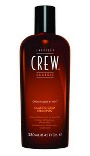 American Crew Шампунь для седых волос Classic Gray Shampoo 250 мл7206899000Это специально созданный шампунь для волос, посеребренных сединой. Обладая специальными добавками, нейтрализующими желтоватый оттенок седых волос, данный шампунь является ведущим средством по уходу за седыми волосами. Оздоровляющий шампунь от American Crew обладает сбалансированными свойствами, позволяющими удалять медно-желтые тона седых или седеющих волос. Также средство помогает предотвратить желтизну на мелированных или окрашенных в белый цвет волосах. А гидролизованный молочный протеин добавляет блеск и создает превосходную защиту от сухости, свойственную седым волосам.