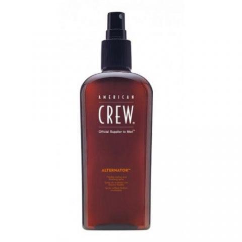 American Crew Спрей для волос Alternator 100 мл7208187000American Crew lternator Спрей для волос разработан и создан специально для лёгкого и удобного изменения причёски в любое время дня. Данное средство быстро смывается с помощью шампуня, имеет не липкую структуру, поэтому прекрасно подходит для ежедневного применения. Спрей для волос Американ Крю Alternator предназначен для умеренной фиксации волос, что позволяет корректировать причёску прямо при помощи рук и в любой удобный момент. Особые компоненты, входящие в состав спрея American Crew Alternator придают волосам мягкость, послушность, при этом не вызывая их сухость и повреждения, не раздражая кожу головы, а также обеспечивая причёске блеск и естественный здоровый цвет. Достаточно одиночного нанесения спрея Alternator для того, чтобы выполнять необходимый рейсталинг причёски в течении дня. Степень фиксации: умеренная фиксация.