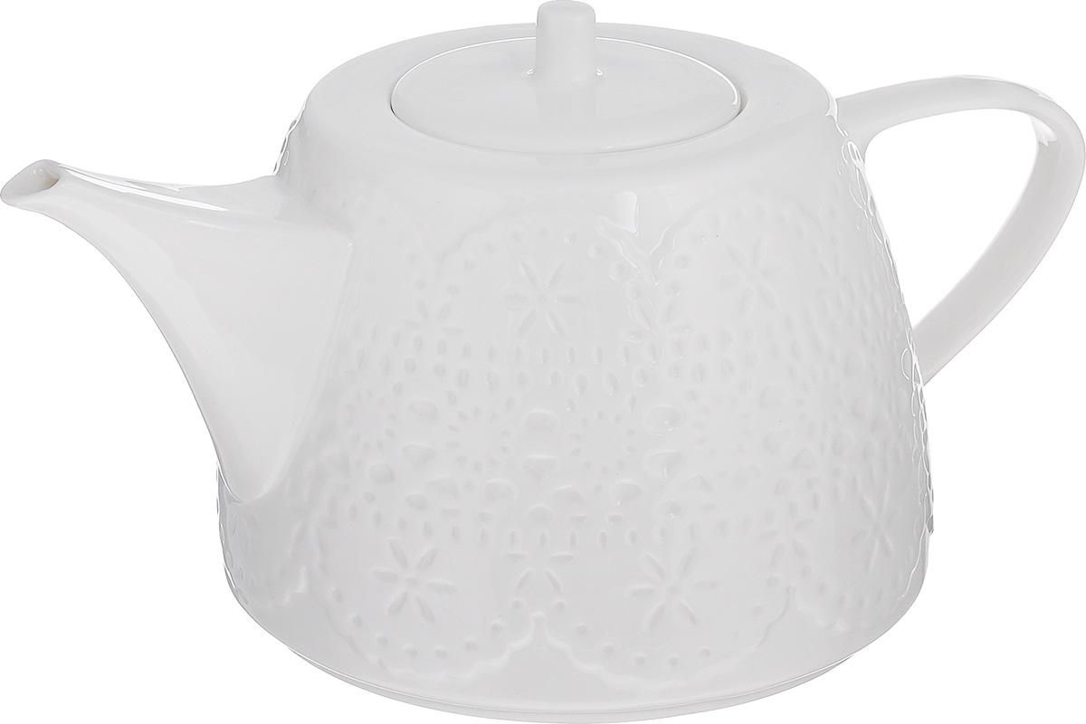 Чайник заварочный Walmer Charlotte, цвет: белый, 500 млW07380050Заварочный чайник Walmer Charlotte изготовлен из высококачественного фарфора. Гладкая поверхность обеспечивает легкую очистку. Чайник поможет заварить крепкий ароматный чай и великолепно украсит стол к чаепитию. Диаметр чайника (по верхнему краю): 8,5 см. Высота чайника (без учета крышки): 9 см.