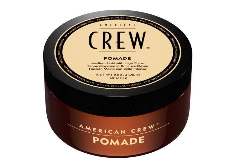 American Crew Помада со средней фиксацией и высоким уровнем блеска для укладки волос Pomade 85 г ( 7209384000 )