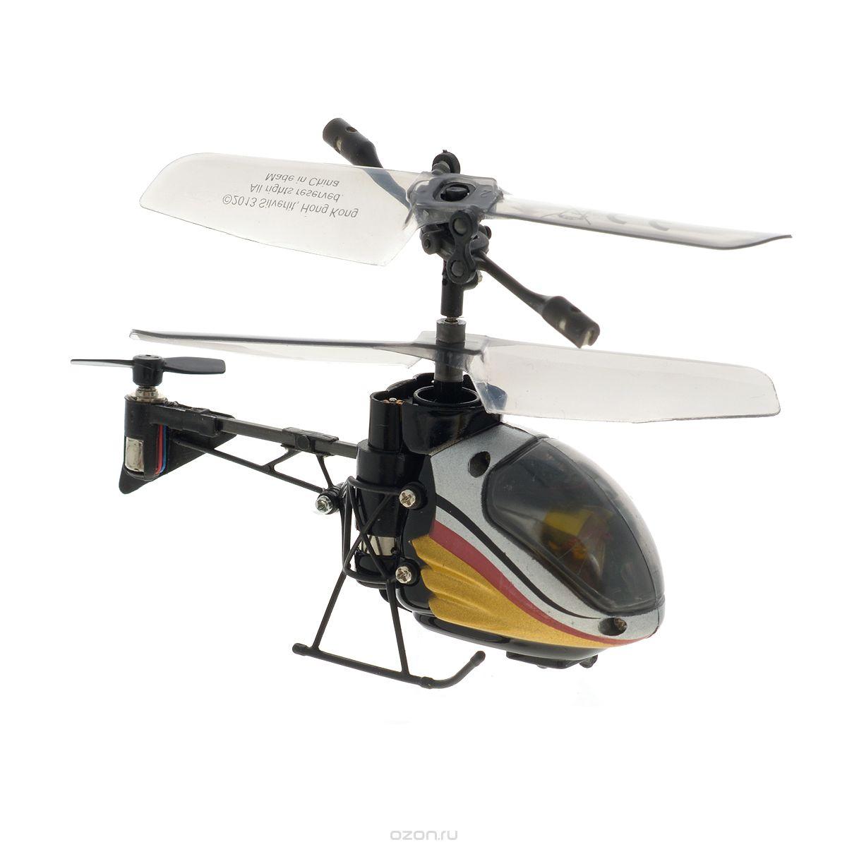 Silverlit Вертолет на радиоуправлении Nano Falcon цвет серый красный желтый84665_серебр, черн, золотРадиоуправляемая модель Silverlit Вертолет Nano Falcon - игрушка, которая обязательно понравится вашему ребенку. Вертолет занесен в книгу рекордов Гиннесса как самый маленький вертолет с гироскопом в мире! Каркас вертолета выполнен из пластика с использованием металла. Вертолет имеет трехканальное дистанционное управление и идеально подходит для игры как внутри помещения, так и на улице. Он может летать на разной высоте вперед и назад, поворачивать вправо и влево. Управляется легко и просто благодаря встроеннмоу гироскопу. Каждый запуск Silverlit Вертолет Nano Falcon принесет яркие впечатления вам и вашему ребенку! Радиоуправляемые модели давно вышли за грань обыкновенных игрушек. В продаже можно увидеть практически любую модель современной техники. Производители с каждым годом создают все более и более продвинутые модели автомобилей, самолетов, вертолетов, кораблей и многих других игрушек. А некоторые модели и вовсе выполнены идентично настоящей машине....
