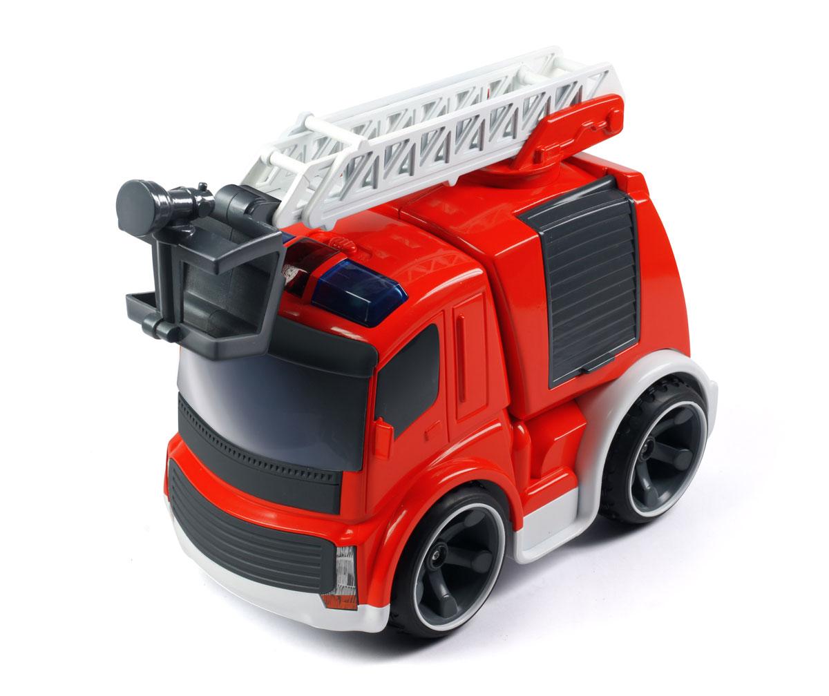 Silverlit Машинка на радиоуправлении Fire Truck цвет красный81130Радиоуправляемая игрушка Silverlit Fire Truck привлечет внимание не только ребенка, но и взрослого, и обязательно понравится вашему малышу! Удивительно реалистичная пожарная машина изготовлена из прочного легкого пластика, шины выполнены из мягкой резины. Машинка при помощи удобного и эргономичного пульта управления может перемещаться вперед, дает задний ход, поворачивает влево и вправо, останавливается. На пульте имеются кнопка включения звуковых эффектов (звук запуска двигателя и автомобильный сигнал) и кнопка включения фар. Пожарная лестница машинки может раскладываться, а также поворачиваться на 360°. Автомобиль может функционировать без дополнительной подзарядки в течение 40 минут. В комплект входят машинка, пульт управления и инструкция по эксплуатации на русском языке. Ваш ребенок часами будет играть с этой игрушкой, придумывая различные истории и устраивая соревнования. Порадуйте его таким замечательным подарком! Для работы машинки необходимо...