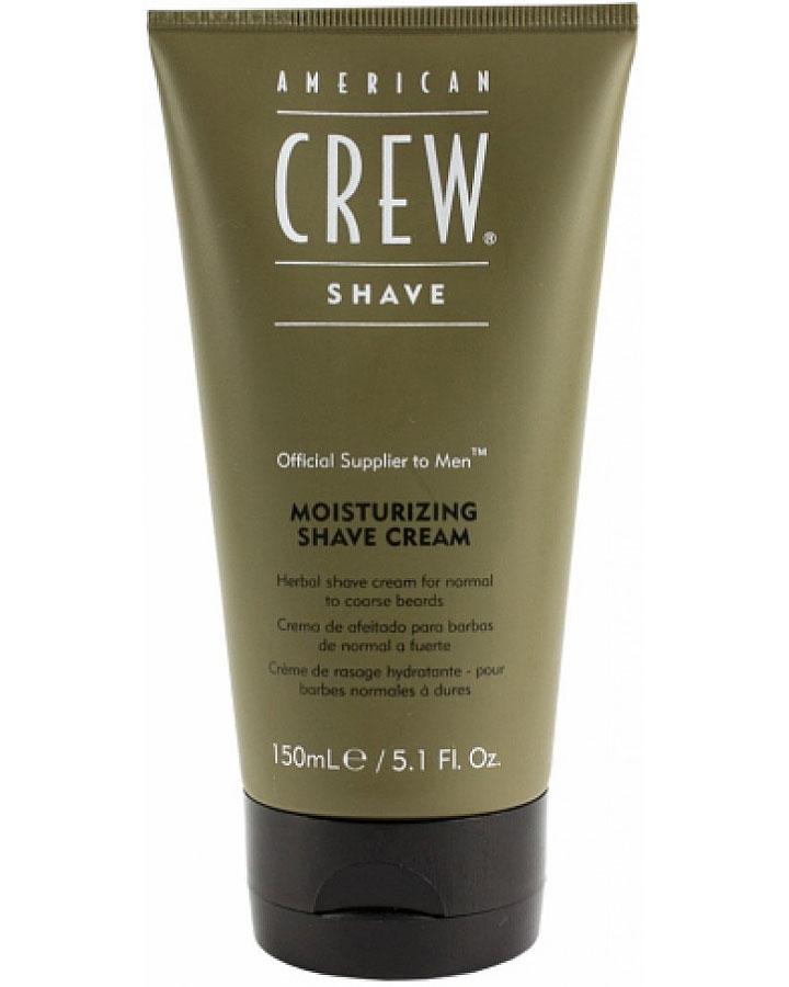 American Crew Крем увлажняющий для бритья Moisturizing Shave Cream 150 мл7206118000Увлажняющий крем American Crew Moisturizing Shave Cream сильно облегчает зачастую мучительный процесс бритья. Травянная формула прекрасно подходит для чувствительной кожи. Витамин E защищает и увлажняет кожу. Миндальное масло смягчает и устраняет неприятные ощущения во время бритья. Используя данное средство от компании American Crew, мужское бритье даже способно приносить удовольствие.