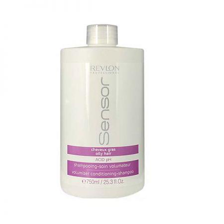 Revlon Sensor Шампунь-кондиционер для придания объема для волос склонных к жирности (Сиреневый) Volumizer Conditioning-Shampoo 750 мл7205875000Средство полноценного ухода за волосами, склонными к жирности. Шампунь дарит волосам объем и мягкость. Кондиционирующий эффект увлажняет волосы, очищает их от излишков кожного жира, дарит блеск и силу. Не дает волосам накапливать жир в прикорневой зоне. Волосы легкие, свежие и мягкие.