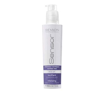 Revlon Sensor Шампунь-кондиционер, придающий энергию для нормальных волос (Синий) Vitalizing Shampoo 200 мл7205872000Средство полноценного ухода за нормальными волосами. Шампунь дарит волосам объем и мягкость. Очищает волосы от любых видов загрязнений. Дарит волосам идеальный блеск и силу. Цинк в составе не дает образовываться перхоти. Волосы легкие, свежие и мягкие.