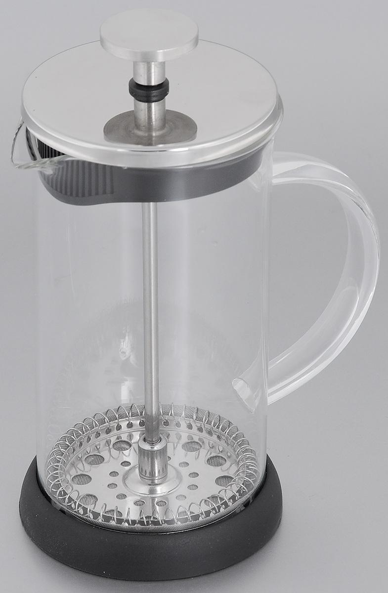 Френч-пресс Mayer & Boch, 350 мл. 2064220642Френч-пресс Mayer & Boch  изготовлен из высококачественной нержавеющей стали и жаропрочного стекла. Фильтр-поршень из нержавеющей стали выполнен по технологии press- up для обеспечения равномерной циркуляции воды. Засыпая чайную заварку или кофе под фильтр, заливая горячей водой, вы получаете ароматный напиток с оптимальной крепостью и насыщенностью. Остановить процесс заваривания легко, для этого нужно просто опустить поршень, и все уйдет вниз, оставляя вверху напиток, готовый к употреблению. Френч-пресс Mayer & Boch позволит быстро и просто приготовить свежий и ароматный кофе или чай.