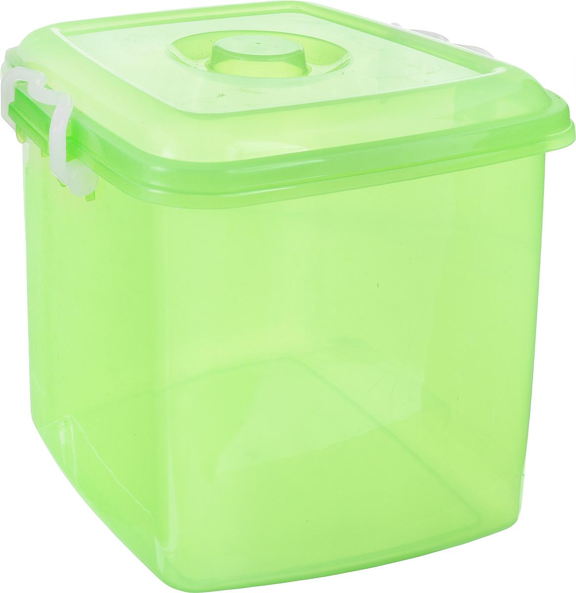 Контейнер для хранения Idea Океаник, цвет: светло-зеленый, 20 лМ 2858Контейнер Idea Океаник выполнен из высококачественного полипропилена, предназначен для хранения различных вещей. Контейнер снабжен эргономичной плотно закрывающейся крышкой со специальными боковыми фиксаторами. Объем контейнера: 20 л.