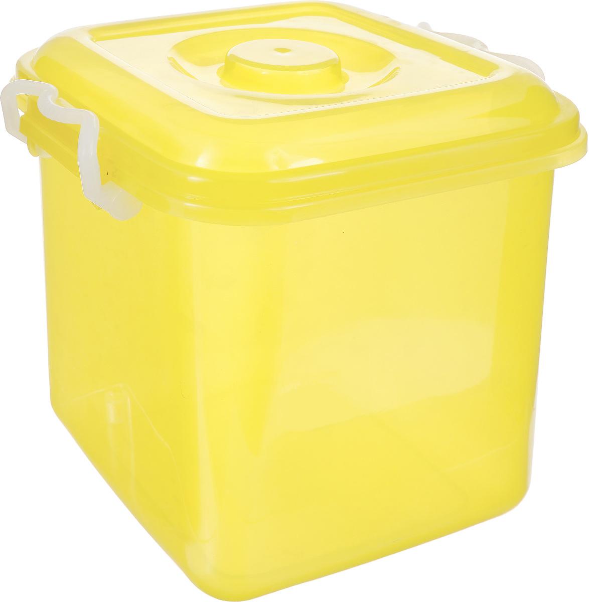 Контейнер для хранения Idea Океаник, цвет: желтый, 10 лМ 2857Контейнер Idea Океаник выполнен из прочного пластика, предназначен для хранения различных бытовых предметов и мелочей. Контейнер снабжен эргономичной плотно закрывающейся крышкой со специальными боковыми фиксаторами.