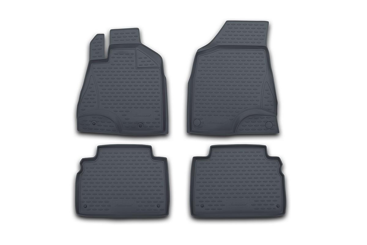 Набор автомобильных ковриков Novline-Autofamily для Nissan Teana II 2008-2014, в салон, цвет: серый, 4 штNLC.36.23.211kНабор автомобильных ковриков Novline-Autofamily, изготовленный из полиуретана, состоит из 4 ковриков, которые учитывают все особенности каждой модели автомобиля и полностью повторяют контуры пола. Полиуретановые автомобильные коврики для салона произведены из высококачественного материала, который держит форму, прочный и не пачкает обувь. Коврики в салон не только улучшат внешний вид салона вашего автомобиля, но и надежно уберегут его от пыли, грязи и сырости, а значит, защитят кузов от коррозии. Полиуретановые коврики для автомобиля гладкие, приятные и не пропускают влагу. Ковры для автомобилей надежно крепятся на полу и не скользят, что очень важно во время движения. Чистятся коврики очень просто: как при помощи автомобильного пылесоса, так и различными моющими средствами. Набор подходит для Nissan Teana II 2008-2014 годов выпуска.