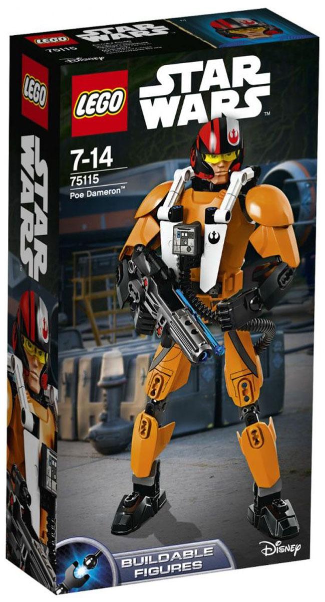 LEGO Star Wars Фигурка-конструктор По Дамерон 7511575115Фигурка-конструктор Lego Star Wars По Дамерон приведет в восторг любого поклонника знаменитой космической саги Звездные войны. Конструктор содержит 102 пластиковых элемента, с помощью которых вы сможете собрать фигурку одного из главных героев фильма Звездные войны: Пробуждение Силы По Дамерона. Придумай для По боевую стойку, заряди бластер и веди Повстанцев в атаку! В комплект входят есть дополнительные боеприпасы и бластерный пистолет, чтобы ничто не сломило твой боевой дух. Все элементы набора выполнены из прочного безопасного пластика. Фигурка выполнена в виде храброго бойца По Дамерона, вооруженного бластером и пистолетом. Бластер стреляет прозрачными снарядами, входящими в комплект. При необходимости, пистолет можно закрепить на поясе фигурки. Руки, ноги и голова фигурки подвижны, что позволяет придавать ей различные позы и раскрывает новые возможности для игры. Игры с конструкторами помогут ребенку развить воображение, внимательность, пространственное...