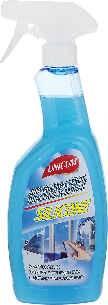 Средство для мытья стекол Unicum Silicone, 750 мл302494Средство Unicum высокоэффективное средство для мягкой очистки гладких и блестящих поверхностей - стекла, зеркал, пластика, кафеля, нержавеющей стали и других видов водостойких материалов и покрытий. Силикон образует прочную водоотталкивающую пленку и защищая поверхность продлевает срок ее службы. Средство быстро удаляет следы от высохших капель воды, следы от рук, мягко очищает полимерные покрытия пластиковых окон. Состав: вода деминерализованная, изопропанол 5- 15 %, растворитель менее 5%, силиконовая эмульсия менее 5%, АПАВ менее 5%, функциональные добавки менее 5%, краситель менее 5%, отдушка менее 5%, консервант менее 5%, цитронеллол, линалоол. Товар сертифицирован.