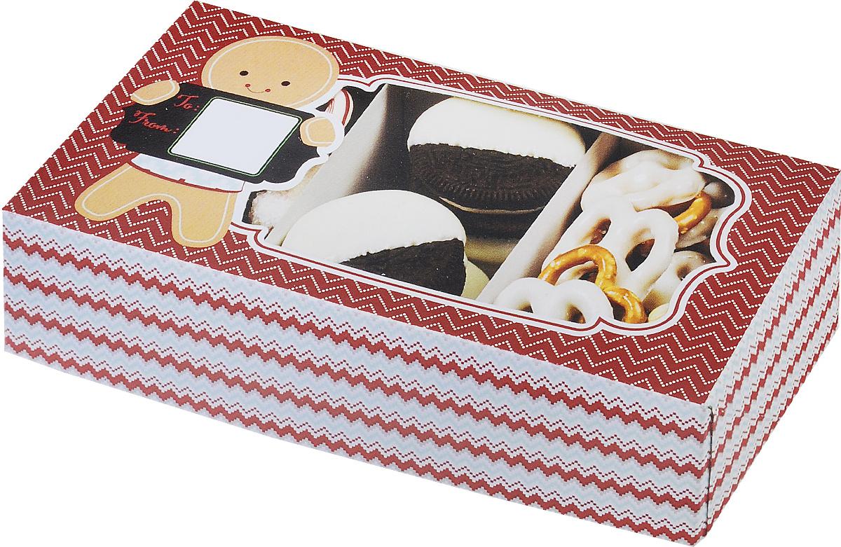 Набор коробок для сладостей Wilton Рождество, 20 х 10,2 х 5,5 см, 3 штWLT-415-2332Набор Wilton Рождество состоит из трех подарочных коробок, изготовленных из картона и предназначенных для упаковки кондитерских изделий. Каждая коробочка оснащена небольшим окошком, благодаря которому можно видеть содержимое. Коробка Wilton Рождество - идеальная подарочная упаковка для вашего сладкого подарка. Просто поместите внутрь пирожное, и удивительно красивый и вкусный подарок готов! Набор также подходит для транспортировки кондитерских изделий. Размер коробки: 20 х 10,2 х 5,5 см.