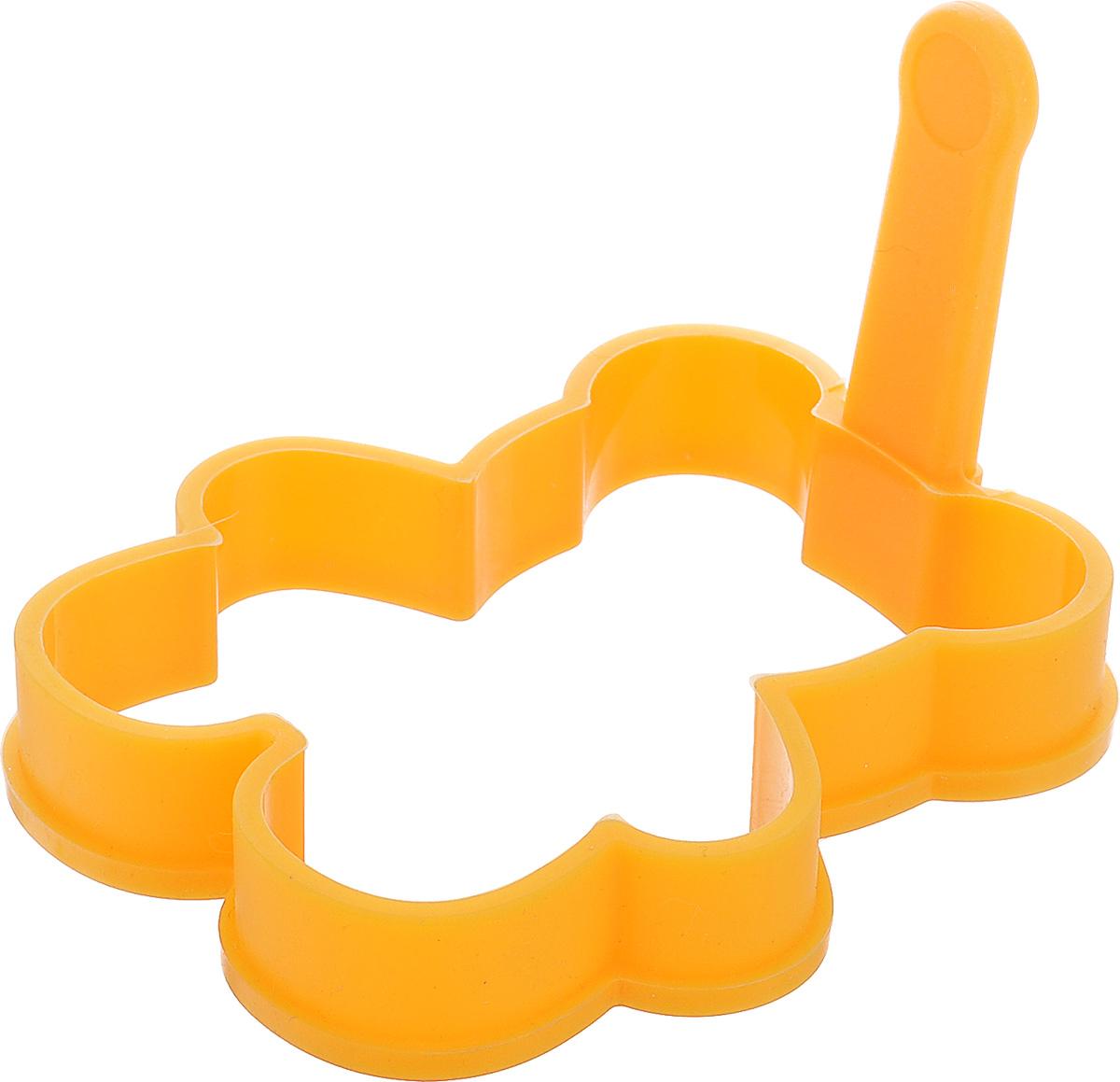 Форма для выпечки Tescoma Delicia Kids, универсальная, цвет: оранжевый, 10,5 х 12 см630951Форма для выпечки Tescoma Delicia Kids, изготовленная из высококачественного силикона, идеально подойдет для приготовления глазуньи, омлета, оладьев или драников на сковороде или в духовке, а также для приготовления желе, пудингов. Выдерживает температуру от -40°С до +230°С. Оснащена удобной ручкой. Можно мыть в посудомоечной машине и использовать в СВЧ-печи. Размер рабочей части: 10,5 х 12 см. Длина ручки: 5,5 см.