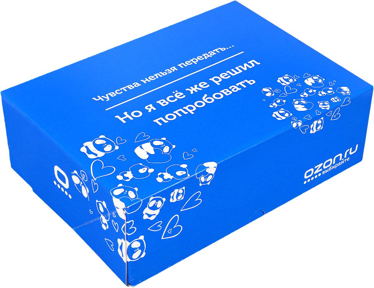 Подарочная коробка OZON.ru. Большой размер, Чувства нельзя передать, но я все же решил попробовать!. 28.5 х 19.4 х 9 см14564-14Складная подарочная коробка от OZON.ru с веселой надписью Чувства нельзя передать… Но я всё же решил попробовать - это интересное решение для упаковки. Коробка выполнена из тонкого картона с матовой ламинацией. Данная упаковка отлично подходит для небольших подарков и не требует дополнительных элементов - лент или бантов. Размер (в сложенном виде): 28.5 х 19.4 х 9 см. Размер (в разложенном виде): 50 х 29 х 0.5 см.