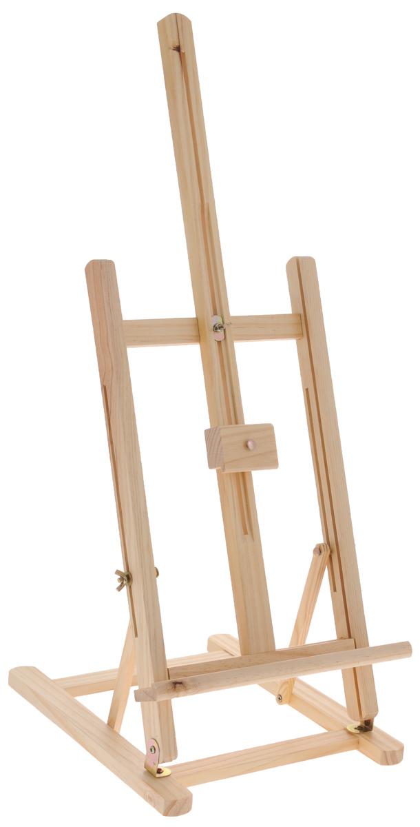 Мольберт настольный Белоснежка, высота 74 см40-BS Мольберт настольный 28х32х74cmНастольный мольберт Белоснежка - это удобный и полезный аксессуар для любителей рисования. Изделие выполнено из дерева и удобно устанавливается на столе. Предназначен для размещения работ на картоне или на холсте на подрамнике. Размеры мольберта: 33 х 29 х 74 см.