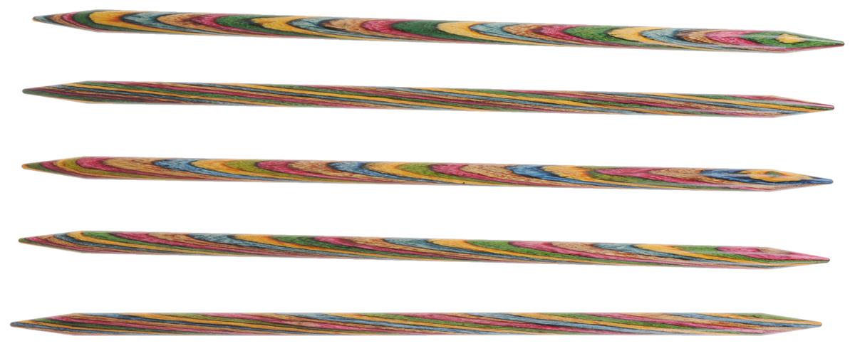 Спицы чулочные KnitPro Symfonie, деревянные, прямые, диаметр 6 мм, длина 20 см, 5 шт20113Спицы для вязания KnitPro Symfonie изготовлены из дерева. Спицы прочные, легкие, гладкие, удобные в использовании. Деревянные спицы предназначены для вязания чулок, шапочек, варежек, носков и других вещей. Вы сможете вязать для себя и делать подарки друзьям. Рукоделие всегда считалось изысканным, благородным делом. Работа, сделанная своими руками, долго будет радовать вас и ваших близких. Диаметр: 6 мм. Длина: 20 см. Комплектация: 5 шт.