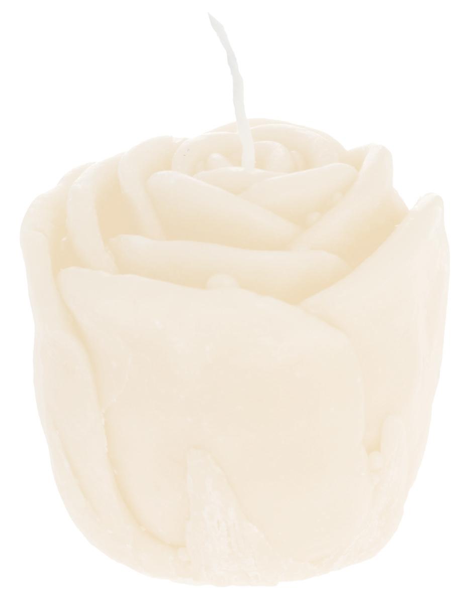 Свеча декоративная Proffi Home Малая роза, цвет: бежевый, 5 х 5 х 6 смPH5919Декоративная свеча Proffi Home Малая Роза изготовлена из парафина и стеарина, а фитиль из хлопка. Изделие выполнено в виде розы. Предназначена для освещения и украшения помещений. Такая свеча может стать отличным подарком или дополнить интерьер вашей спальни или гостиной.