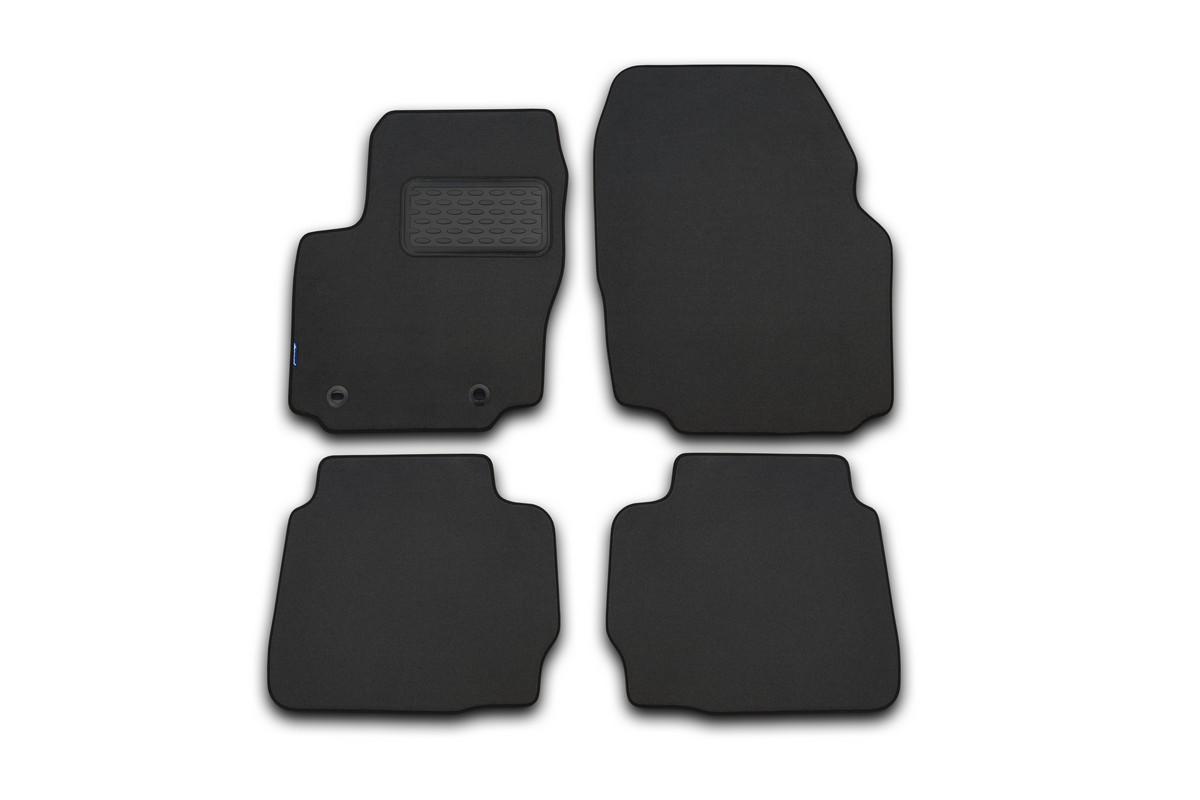 Набор автомобильных ковриков Novline-Autofamily для Ford Mondeo 2011-2014, в салон, седан, цвет: серый, 4 шт. NLT.16.33.22.111khNLT.16.33.22.111khНабор автомобильных ковриков Novline-Autofamily, изготовленный из текстиля, состоит из 4 ковриков, которые учитывают все особенности каждой модели автомобиля и полностью повторяют контуры пола. Текстильные автомобильные коврики для салона произведены из высококачественного материала, который держит форму, прочный и не пачкает обувь. Коврики в салон не только улучшат внешний вид салона вашего автомобиля, но и надежно уберегут его от пыли, грязи и сырости, а значит, защитят кузов от коррозии. Текстильные коврики для автомобиля мягкие и приятные, а их основа из вспененного полиуретана не пропускает влагу. Ковры для автомобилей надежно крепятся на полу и не скользят, что очень важно во время движения. Чистятся коврики очень просто: как при помощи автомобильного пылесоса, так и различными моющими средствами. Набор подходит для Ford Mondeo седан 2011-2014 годов выпуска.