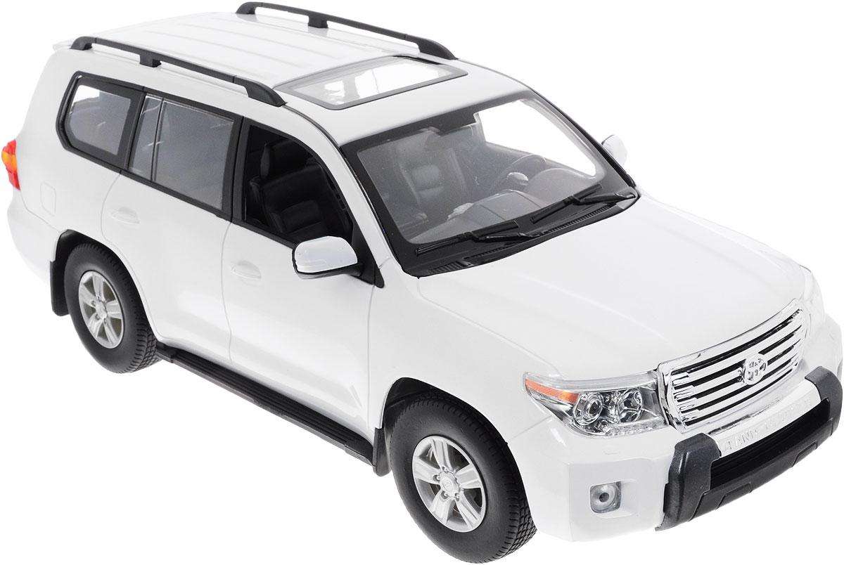 Rastar Радиоуправляемая модель Toyota Land Cruiser50200Радиоуправляемая модель Rastar Toyota Land Cruiser станет отличным подарком любому мальчику! Все дети хотят иметь в наборе своих игрушек ослепительные, невероятные и крутые автомобили на радиоуправлении. Тем более, если это автомобиль известной марки с проработкой всех деталей, удивляющий приятным качеством и видом. Одной из таких моделей является автомобиль на радиоуправлении Rastar Toyota Land Cruiser. Это точная копия настоящего авто в масштабе 1:16. Авто обладает неповторимым провокационным стилем и спортивным характером. Потрясающая маневренность, динамика и покладистость - отличительные качества этой модели. Возможные движения: вперед, назад, вправо, влево, остановка. Имеются световые эффекты. Пульт управления работает на частоте 27 MHz. Для работы игрушки необходимы 5 батареек типа АА (не входят в комплект). Для работы пульта управления необходима 1 батарейка напряжением 9V типа 6F22 (не входит в комплект).