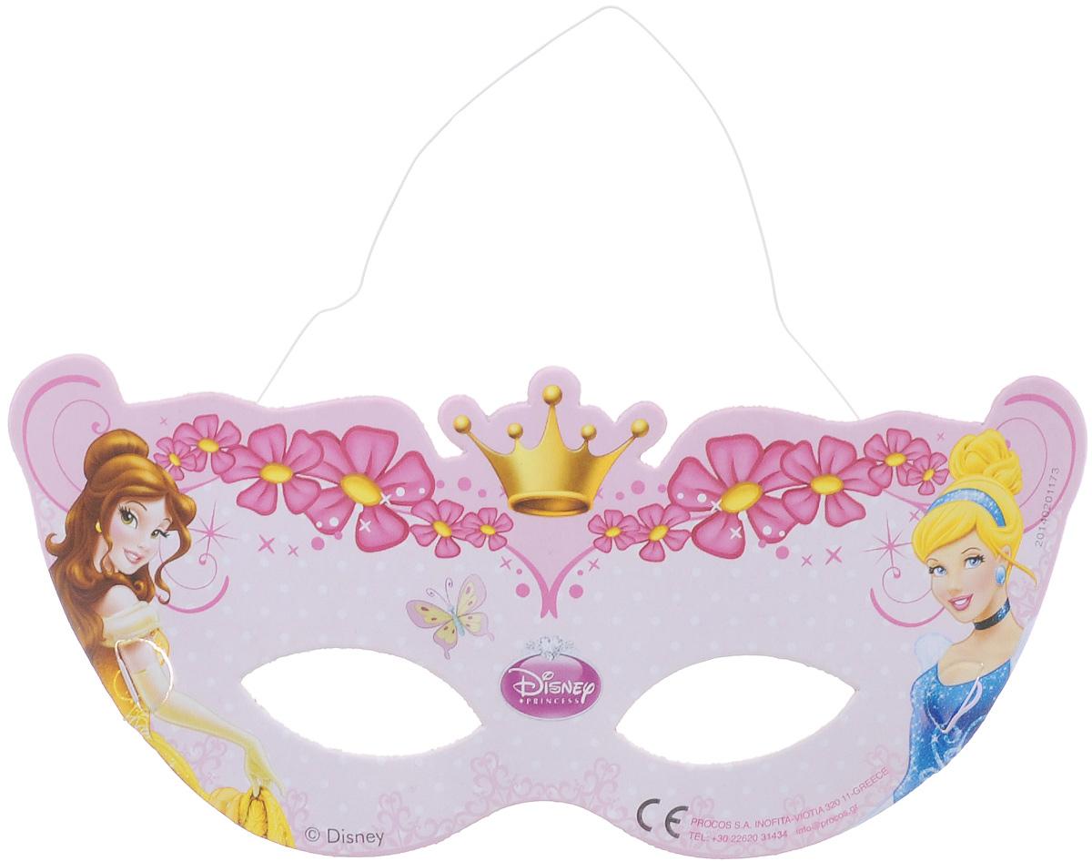 Procos Маска карнавальная Принцессы 6 шт81586Маска Procos Принцессы оживит любой детский праздник и не позволит детишкам заскучать. Маска выполнена в нежно-розовых тонах и украшена изображением сказочных принцесс. Одев такую маску, ваша маленькая красавица будет самозабвенно играть, веселясь и позабыв про все на свете. Маска выполнена из картона, не имеет острых краев и зазубрин, так что абсолютно безопасна для малышей. Изделие на резинке, поэтому легко подогнать под нужный размер. Маска карнавальная Procos Принцессы является отличным решением для карнавалов, утренников и просто детских праздников. В наборе: 6 карнавальных масок.