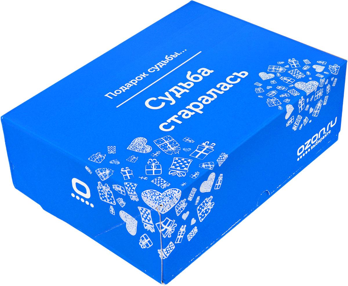 Подарочная коробка OZON.ru. Большой размер, Подарок судьбы. Судьба старалась!. 28.5 х 19.4 х 9 см