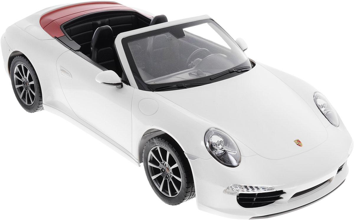 Rastar Радиоуправляемая модель Porsche 911 Carrera S цвет белый47700Радиоуправляемая модель Rastar Porsche 911 Carrera S станет отличным подарком любому мальчику! Все дети хотят иметь в наборе своих игрушек ослепительные, невероятные и крутые автомобили на радиоуправлении. Тем более, если это автомобиль известной марки с проработкой всех деталей, удивляющий приятным качеством и видом. Одной из таких моделей является автомобиль на радиоуправлении Rastar Porsche 911 Carrera S. Это точная копия настоящего авто в масштабе 1:12. Авто обладает неповторимым провокационным стилем и спортивным характером. Потрясающая маневренность, динамика и покладистость - отличительные качества этой модели. Возможные движения: вперед, назад, вправо, влево, остановка. Имеются световые эффекты. Пульт управления работает на частоте 40 MHz. Для работы игрушки необходимы 5 батареек типа АА (не входят в комплект). Для работы пульта управления необходима 1 батарейка напряжением 9V типа 6F22 (не входит в комплект).