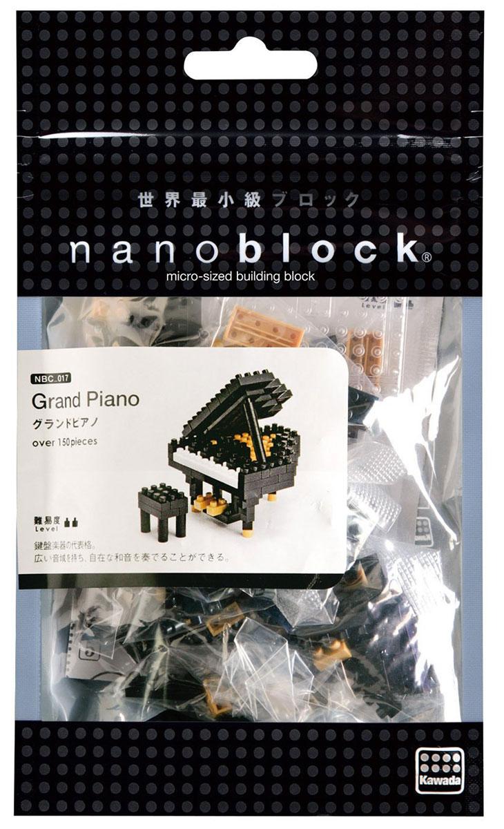 NanoBlock Мини-конструктор Черный рояльNBC_017Мини-конструктор Черный рояль - увлекательнейший способ времяпрепровождения. Набор включает подставку, более 150 пластиковых элементов (в том числе запасные) и цветную графическую инструкцию-схему сборки. Из деталей конструктора собирается мини-модель великолепного классического черного рояля и табурет для него. Конструктор nanoBlock - самый маленький в мире конструктор, крайне необычный, как все японское. Высокоточные трехмерные модели из деталей подобных Лего, но предельно уменьшенных в размерах, стали хитом в Японии и буквально произвели фурор в Америке, Европе, Азии и Австралии. Самая маленькая деталь конструктора - 4 мм х 4 мм, а классический прямоугольный элемент 2-на-4 точки имеет размер 8 мм х 16 мм и 5 мм высотой. Запатентованный дизайн деталей и высочайшее качество пластика обеспечивают надежное соединение даже при таких небольших размерах. Нано-размер деталей позволяет добиться невероятной реалистичности у собранных конструкций. В результате...