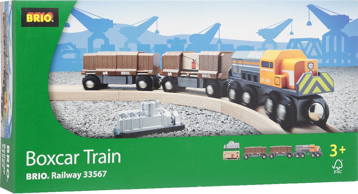 Brio Товарный поезд с раздвижными вагонами