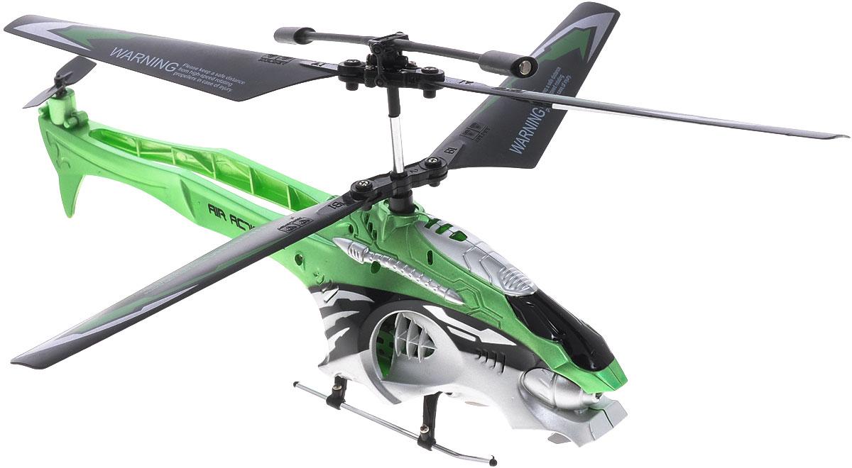 Auldey Вертолет на радиоуправлении Phantom цвет зеленый1111252Вертолет на инфракрасном управлении Auldey Phantom - игрушка, которая обязательно понравится вашему ребенку. Каркас вертолета выполнен из пластика с использованием металла и идеально подходит для игры как внутри помещения, так и на улице. Он может летать на разной высоте до 12 метров вперед и назад, поворачивать вправо и влево. Управляется легко и просто благодаря встроенному гироскопу, а также функции Автопилот. Каждый запуск вертолета Auldey Phantom принесет яркие впечатления вам и вашему ребенку! Красивый дизайн, мощный двигатель позволяют получить максимум позитивных эмоций от игры. Радиоуправляемые игрушки развивают у ребенка мелкую моторику, логику, координацию движений и пространственное мышление. Порадуйте своего малыша таким замечательным подарком! Вертолет работает от встроенного литий-полимерного аккумулятора, который заряжается посредством шнура USB. Для работы пульта управления необходимо 6 батареек напряжением 1,5V типа AA (не...