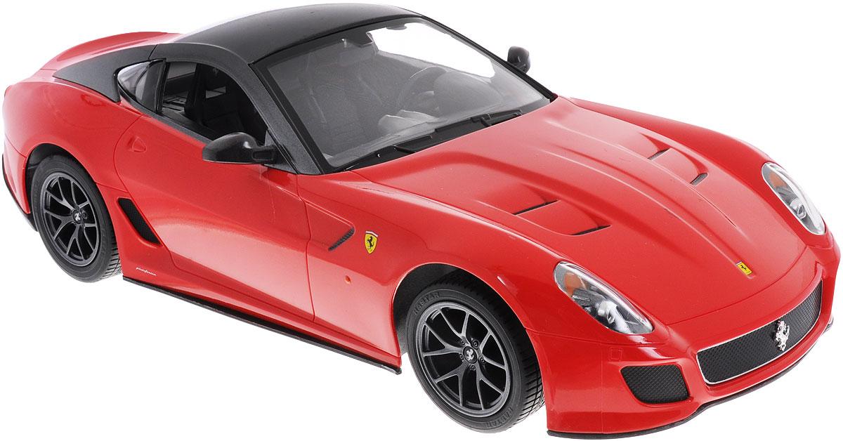 Rastar Радиоуправляемая модель Ferrari 599 GTO цвет красный47100Радиоуправляемая модель Rastar Ferrari 599 GTO станет отличным подарком любому мальчику! Все дети хотят иметь в наборе своих игрушек ослепительные, невероятные и крутые автомобили на радиоуправлении. Тем более, если это автомобиль известной марки с проработкой всех деталей, удивляющий приятным качеством и видом. Одной из таких моделей является автомобиль на радиоуправлении Rastar Ferrari 599 GTO. Это точная копия настоящего авто в масштабе 1:14. Авто обладает неповторимым провокационным стилем и спортивным характером. Потрясающая маневренность, динамика и покладистость - отличительные качества этой модели. Возможные движения: вперед, назад, вправо, влево, остановка. Имеются световые эффекты. Пульт управления работает на частоте 27 MHz. Для работы игрушки необходимы 5 батареек типа АА (не входят в комплект). Для работы пульта управления необходима 1 батарейка 9V (6F22) (не входит в комплект).