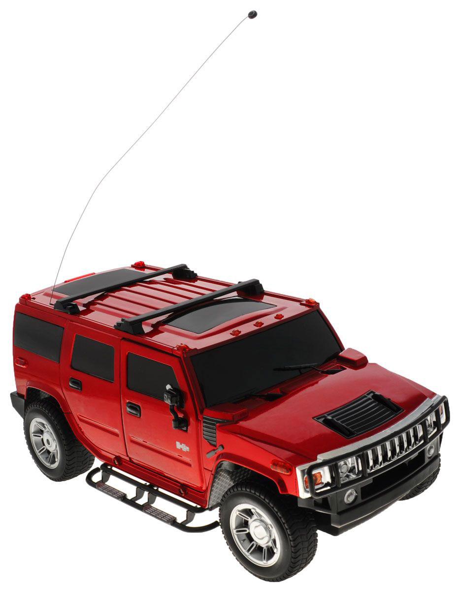 1TOY Радиоуправляемая модель Hummer H2 цвет красныйТ54267_красныйКультовый американский внедорожник Hummer привлечет внимание как ребенка, так и взрослого и понравится любому, кто увлекается автомобилями. Маневренная и реалистичная уменьшенная копия Hummer H2 выполнена в точной детализации с настоящим автомобилем в масштабе 1/12. Управление машиной происходит с помощью пульта. Машина двигается вперед и назад, поворачивает направо и налево. Во время езды у нее можно включать свет фар. Колеса игрушки прорезинены и обеспечивают плавный ход, машинка не портит напольное покрытие. Радиоуправляемые игрушки способствуют развитию координации движений, моторики и ловкости. Ваш ребенок часами будет играть с моделью, придумывая различные истории и устраивая соревнования. Порадуйте его таким замечательным подарком! Машина работает от аккумулятора напряжением 6V 800 mAh (входит в комплект); пульт управления работает от 6 батареек напряжением 1,5V типа AA (входят в комплект).