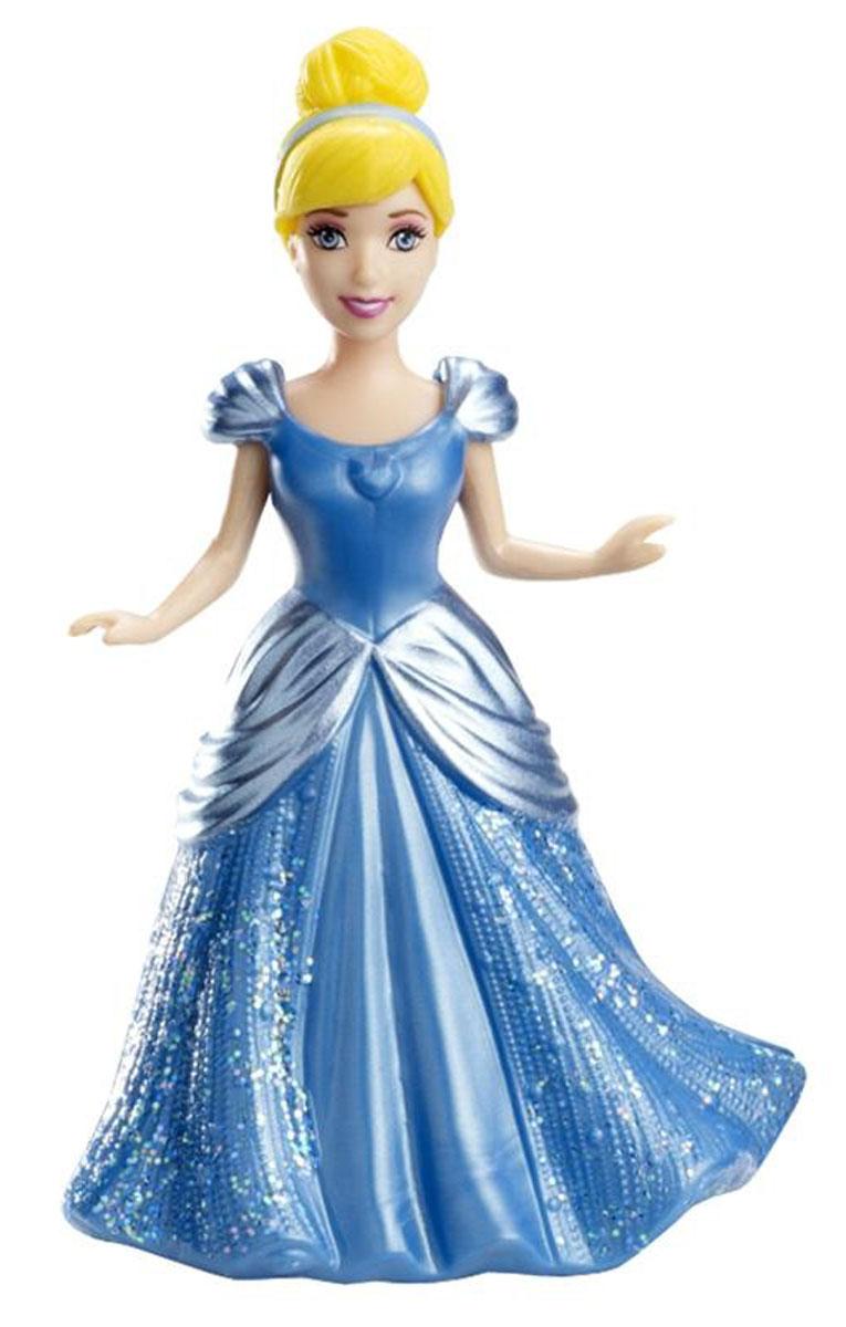 Disney Princess Мини-кукла Принцесса Disney ЗолушкаX9412(BDJ64/X9413/14/15/18/19)Мини-кукла Disney Princess Принцесса Золушка непременно порадует вашу малышку и доставит ей много удовольствия от часов, посвященных игре с ней. Куколка выполнена из пластика в виде очаровательной принцессы Золушки. Ручки, ножки и голова куколки подвижны. Одета куколка в блестящее платье голубого цвета с блестками, выполненное из мягкого пластика по специальной технологии MagiClip, благодаря которой оно легко снимается и надевается. Ваша малышка с удовольствием будет играть с этой куколкой, проигрывая сюжеты из мультфильма и придумывая различные истории.