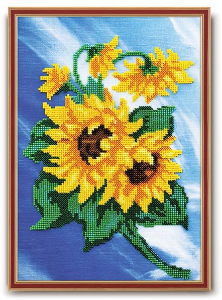 Набор для вышивания бисером Кроше Подсолнухи, 22 х 30 см645322Набор для вышивания бисером Кроше Подсолнухи поможет вам создать великолепную вышитую картину на канве. Напоминание о знаменитых Подсолнухах Ван Гога - яркие цвета лепестков, приятные глазу полутона зелени. Требуют небольшого количества времени и усидчивости. Вышивание отвлечет вас от повседневных забот и превратится в увлекательное занятие! Работа, сделанная своими руками, создаст особый уют и атмосферу в доме и долгие годы будет радовать вас и ваших близких. Набор разработан по уникальной технологии, обеспечивающей максимальное удобство при вышивании бисером. Специальное покрытие, нанесенное на ткань, не только создает эффект масляной живописи, но и позволяет игле легко прокалывать ткань, а бисеру выстраиваться в безупречно ровные ряды. Подробные, специально разработанные инструкции по вышиванию дают возможность даже новичку почувствовать себя профессионалом. Техника вышивания бисером - полукрест. Набор содержит: - бисер...