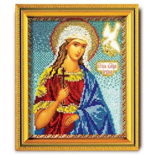 Набор для вышивания бисером Кроше Святая Ирина, 12 х 14,5 смВ-318Набор для вышивания бисером Кроше Святая Ирина поможет вам создать великолепную вышитую икону на канве, которая помещается в ладонь и выглядит как предмет ювелирного искусства. Именная икона содержит в себе высокую духовную ценность, рукотворно воплощая образ Святого покровителя, небесного заступника. Святой становится нашим покровителем на весь жизненный путь. В день, когда Святого почитает Православная Церковь, человек, нареченный в его честь, празднует именины (День Ангела). Поэтому эти иконы всегда почитались на Руси. Каждый верующий имел икону с изображением своего Святого покровителя. Техника вышивания бисером - полукрест. Набор содержит: - ювелирный бисер, - канва с фотореалистичным рисунком и схемой, - игла бисерная, - цветная схема, - подробная инструкция на русском языке. Время на изготовление: 40 часов. УВАЖАЕМЫЕ КЛИЕНТЫ! Обращаем ваше внимание, на тот факт, что рамка в...