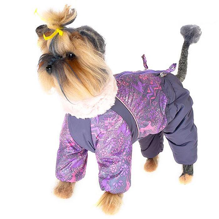Комбинезон для собак Happy Puppy Скандинавия, зимний, для девочки, цвет: меланж. Размер 1 (S)HP-150018-1Зимний комбинезон для собак Happy Puppy Скандинавия отлично подойдет для прогулок в зимнее время года. Комбинезон изготовлен из полиэстера, защищающего от ветра и снега, а на подкладке используется искусственный мех, который обеспечивает отличный воздухообмен. Комбинезон застегивается на молнию, благодаря чему его легко надевать и снимать. Высокий ворот изделия выполнен из искусственного меха. Низ рукавов и брючин оснащен внутренними резинками, которые мягко обхватывают лапки, не позволяя просачиваться холодному воздуху. На пояснице комбинезон затягивается на шнурок-кулиску. Благодаря такому комбинезону простуда не грозит вашему питомцу и он сможет испытать не сравнимое удовольствие от снежных игр и забав.