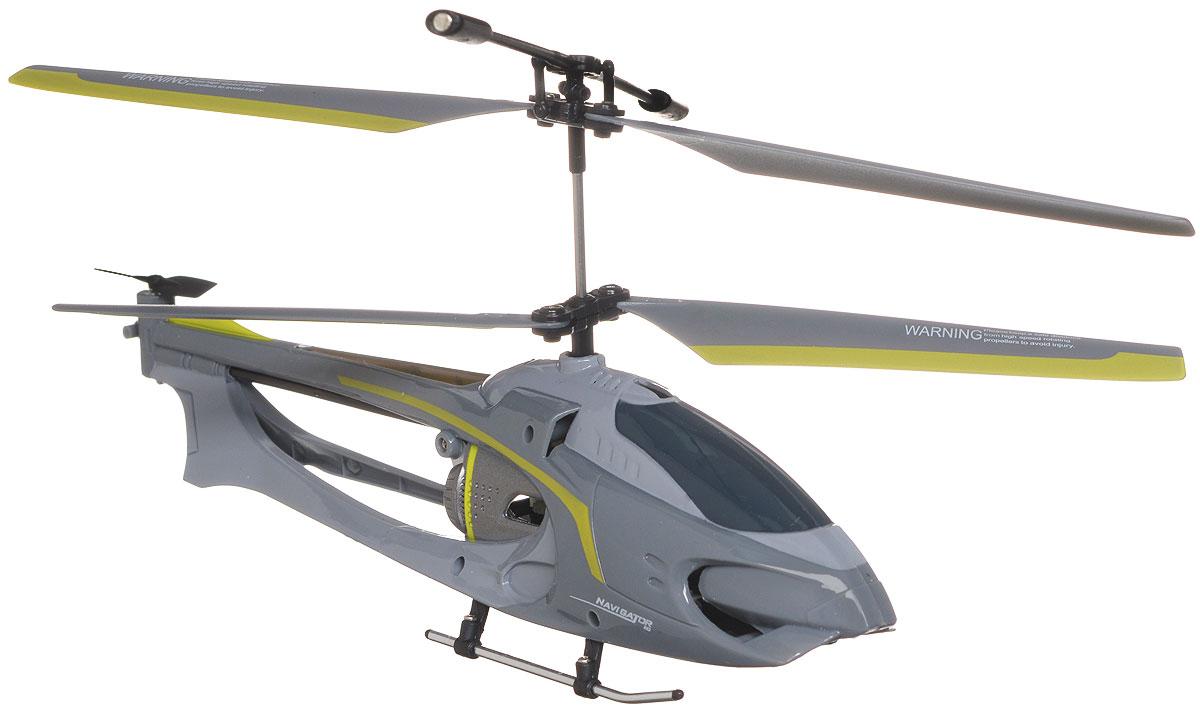 Auldey Вертолет на радиоуправлении Navigator цвет серый1107033Вертолет на инфракрасном управлении Auldey Navigator - игрушка, которая обязательно понравится вашему ребенку. Каркас вертолета выполнен из пластика с использованием металла и идеально подходит для игры как внутри помещения, так и на улице. Он может летать на разной высоте вперед и назад, поворачивать вправо и влево. Вертолет оснащен трехканальным управлением, имеет круиз-контроль и встроенный гироскоп, благодаря которому модель обладает высокой стабильностью полета. Это позволит полностью контролировать процесс полета, управлять без суеты и страха сломать игрушку. Каждый запуск вертолета Auldey Navigator принесет яркие впечатления вам и вашему ребенку! Оригинальный дизайн, мощный двигатель позволяют получить максимум позитивных эмоций от игры. Радиоуправляемые игрушки развивают у ребенка мелкую моторику, логику, координацию движений и пространственное мышление. Порадуйте своего ребенка таким замечательным подарком! Вертолет работает...