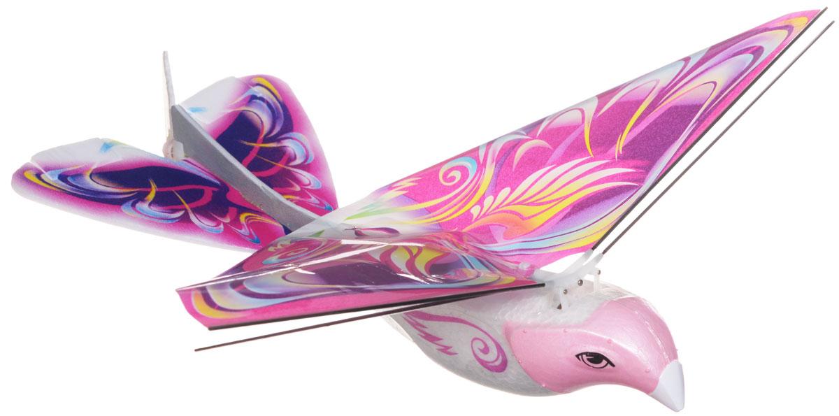 Balbi Игрушка на радиоуправлении Летающая птица цвет розовыйEB-001-RИгрушка на радиоуправлении Balbi Летающая птица принесет массу положительных эмоций каждому ребенку. Корпус птицы состоит из легкого, но прочного материала, поэтому ей не страшны падения и столкновения. Игрушка полностью повторяет полет настоящей птицы, летает с помощью взмаха крыльями и поет птичьим голосом. Птица осуществляет полет вперед, повороты вправо и влево, а также снижение. Летающая птица предназначена для игры, как в помещении, так и на улице. Ваш ребенок будет в восторге от такого подарка! Игрушка работает от встроенного аккумулятора. Пульт управления работает от 4 батареек напряжением 1,5V типа AA (не входят в комплект).