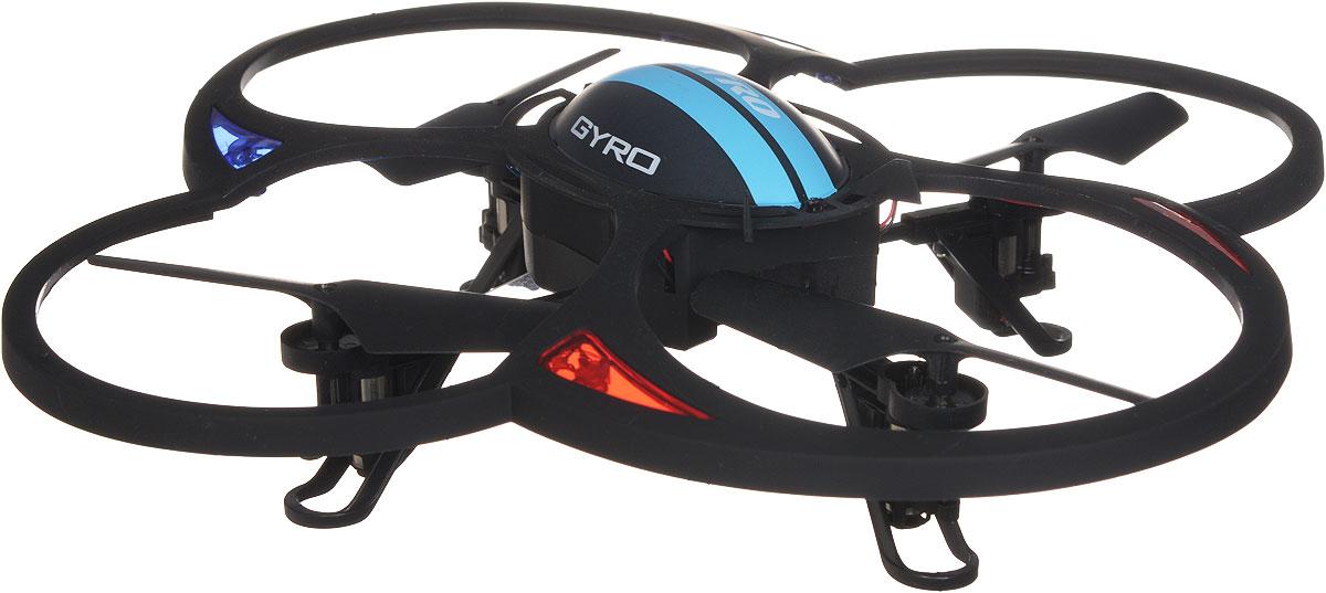 1TOY Квадрокоптер на радиоуправлении Gyro QuatroТ57395Квадрокоптер на радиоуправлении GYRO-Quatro c встроенным гироскопом отлично подходит для полетов в закрытых помещениях и на улице. Шести осевой гироскоп предназначен для курсовой стабилизации полета. Игрушка может летать вперед-назад, вверх-вниз, вращаться, зависать в воздухе. Полностью заряженный аппарат летает 6-8 минут. Пульт управления работает на частоте 2,4 GHz. Игрушка развивает многочисленные способности ребенка - мелкую моторику, пространственное мышление, реакцию и логику. Квадрокоптер работает от встроенного аккумулятора, который можно заряжать от USB-шнура (входит в комплект). Для работы пульта управления необходимо докупить 4 батарейки напряжением 1,5V типа АА (в комплект не входят).