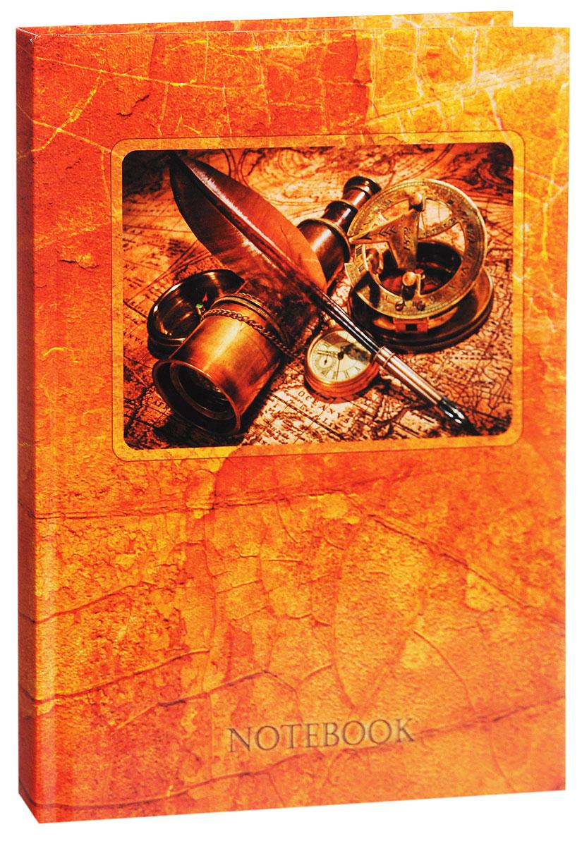 Listoff Записная книжка Путешествия 130 листов в клеткуКЗ51301505Записная книжка Listoff Путешествия - незаменимый атрибут современного человека, необходимый для рабочих и повседневных записей в офисе и дома. Записная книжка содержит 130 листов формата А5 в клетку без полей. Обложка, выполненная из ламинированного картона, стилизована под старину и украшена изображением подзорной трубы, компаса и древней карты. Внутренний блок изготовлен из высококачественной плотной бумаги, что гарантирует чистоту записей и отсутствие клякс. Книга для записей Listoff Путешествия станет достойным аксессуаром среди ваших канцелярских принадлежностей. Она подойдет как для деловых людей, так и для любителей записывать свои мысли, рисовать скетчи, делать наброски.