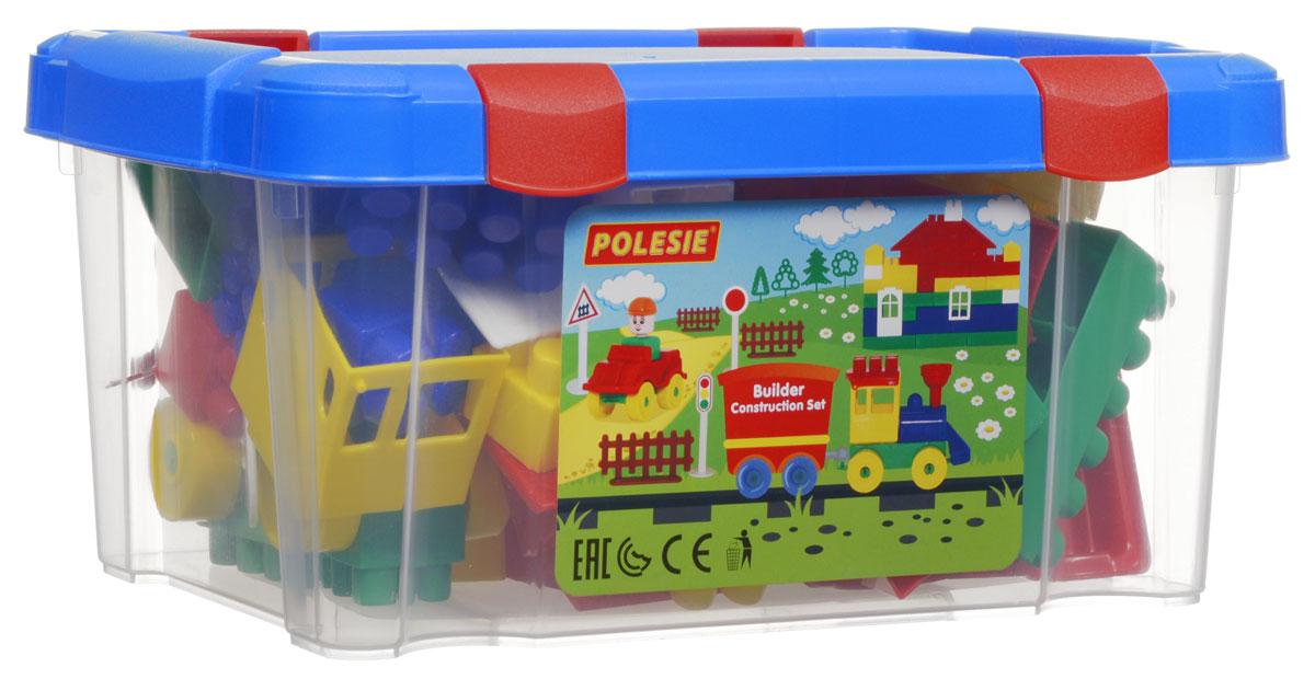 Полесье Конструктор Строитель 71 элемент50472Конструктор - необходимая игрушка в любой детской комнате, которая надолго займет внимание вашего ребенка. В комплект конструктора Полесье Строитель входит 71 пластиковый элемент, с помощью которых ребенок сможет складывать всевозможные постройки, а также наклейки на дорожные знаки. Крупные детали конструктора легко и прочно соединяются между собой, к тому же, они абсолютно безопасны для детей. Игра с конструктором развивает образное и пространственное мышление, стимулирует фантазию и творческое воображение, организаторские навыки и речь. Во время игры ребенок познакомится с основными цветами, научится различать фигуры, форму и цвет, сможет развить мелкую моторику рук, логику и творческое мышление.
