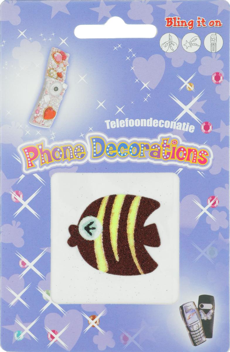 Наклейка декоративная с блестками Айрис, для мобильного телефона. 7701019_1021/7254