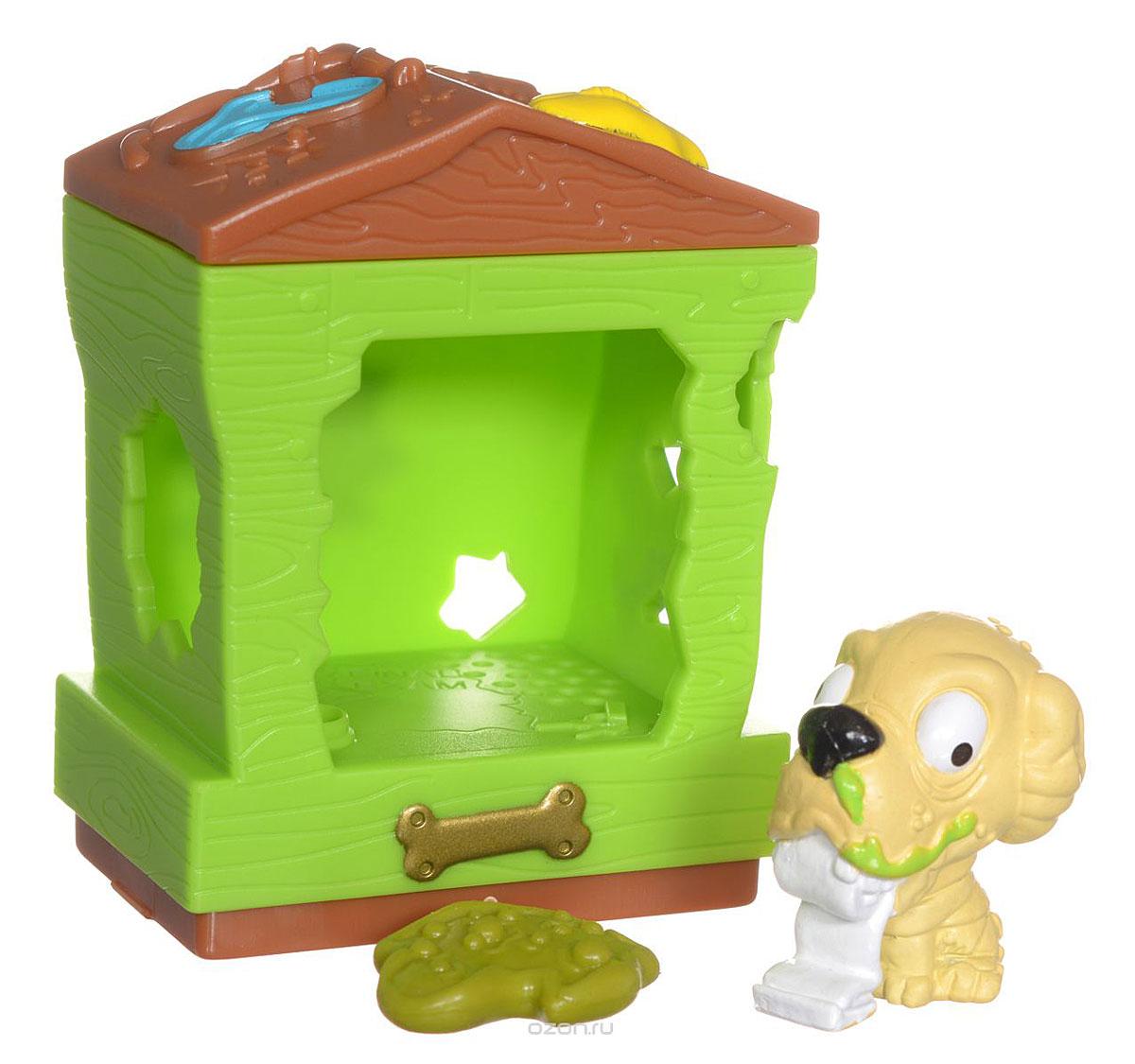Ugglys Pet Shop Игровой набор Домик с фигуркой Doggy Dump19411Игровой набор из серии Хулиганские животные состоит из салатового домика со звуковыми эффектами и уникальной фигурки питомца-собачки, которую нельзя найти в других упаковках и наборах серии. Домик выполнен в ярких цветах и притягивает взгляд. Если внутри него поместить мини-фигурку животного и надавить на пол - будут раздаваться звуки. В ассортименте представлено 6 домиков, которые можно состыковать один с другим и построить большой зоомагазин с эксклюзивными животными. Такая удивительная игрушка обязательно понравится вашей малышке! Порадуйте ее таким замечательным подарком! Для работы требуются 2 батарейки типа LR44 (комплектуется демонстрационными).